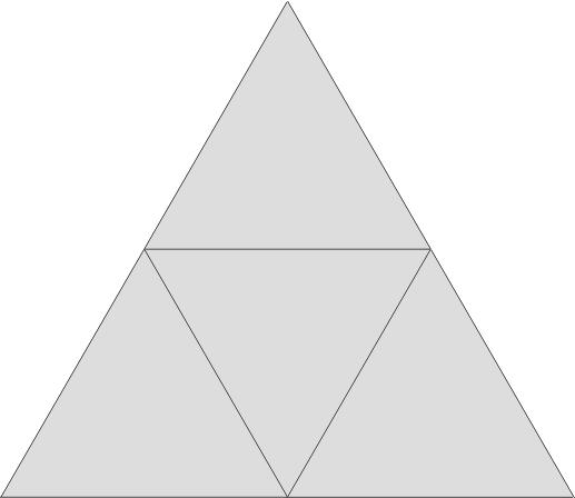 Flächennetz Tetraeder