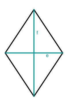 Raute Diagonale Fläche