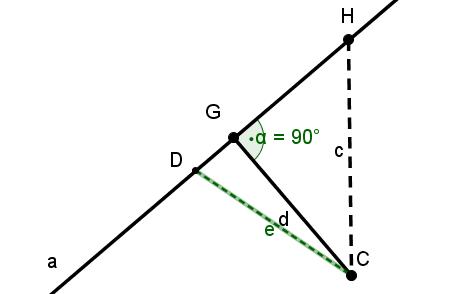Abstand eines Punktes zu einer Geraden