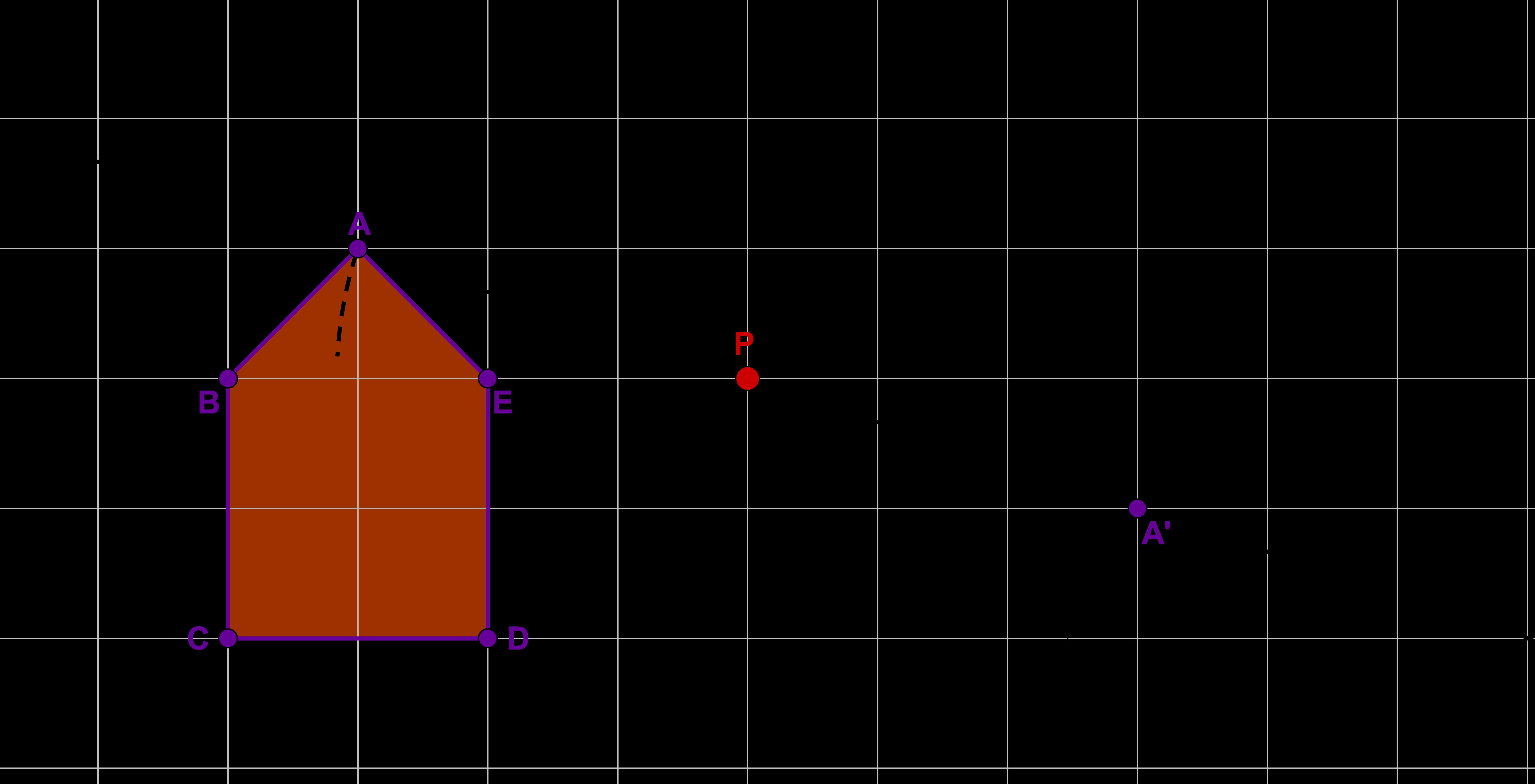 Spiegelpunkt mit Kreis