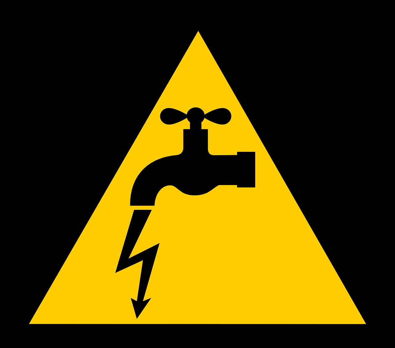 Warnschild: Elektrizität