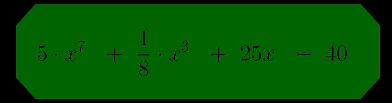 Beispiel eines Polynoms Grad sieben