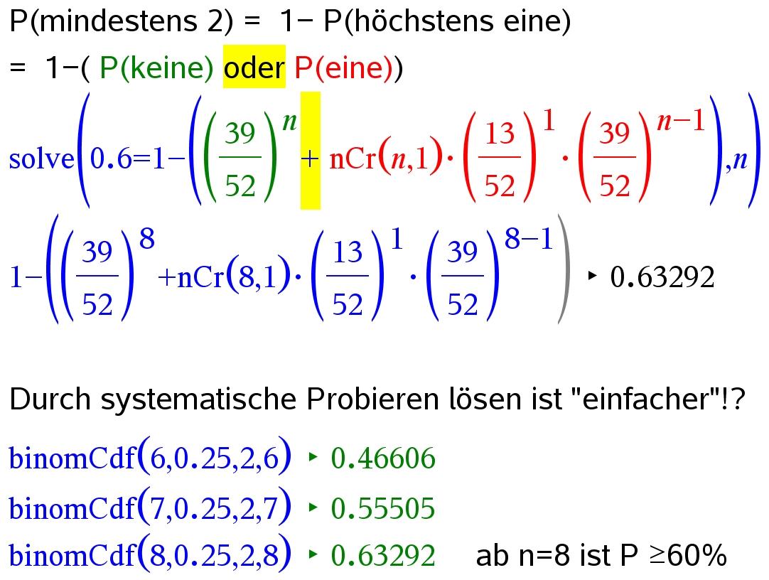 Aufgaben zu Bernoulli-Kette und Binomialverteilung - Mathe ...