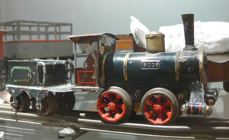 Echte Spielzeuglokomotive