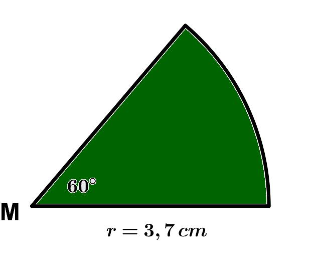 Fläche eines Sechstel-Kreises