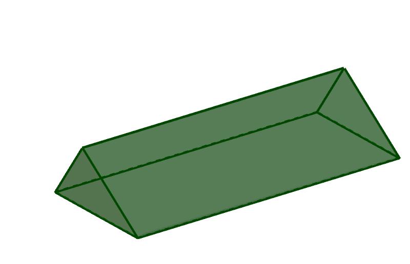 Bild: liegendes Prisma mit dreieckiger Grundfläche