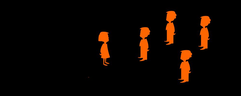 Bedingte Wahrscheinlichkeit, Mädchen und Jungen mit Merkmal