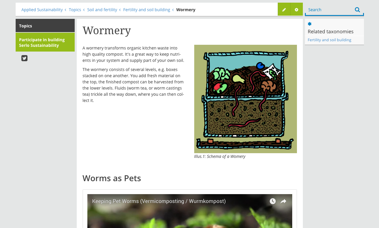 Wormery article screenshot