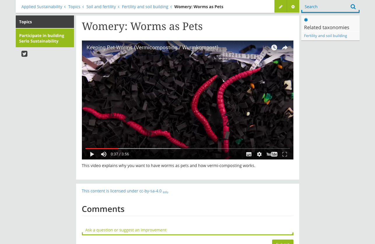 Video, Keeping Pet Worms in a Wormery screenshot