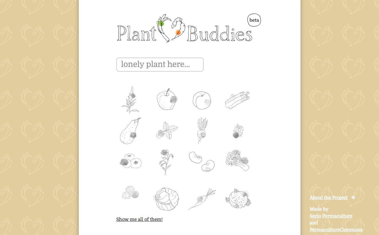 PlantBuddies Companion Planting chart Helper tool