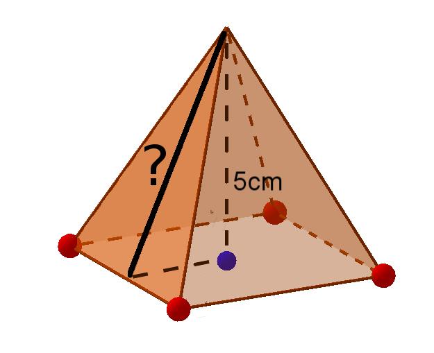 Seitenlänge in der Pyramide