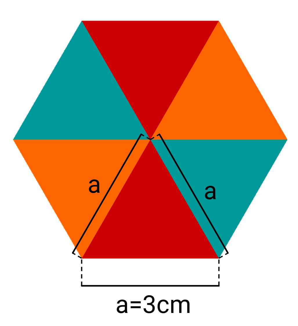 Sechseck, Dreiecke