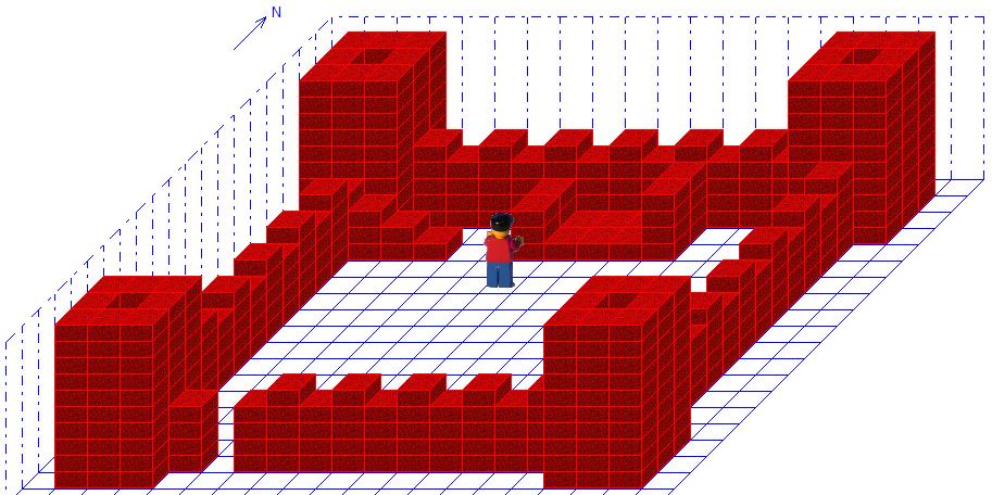Burg mit Bett Robot Karol