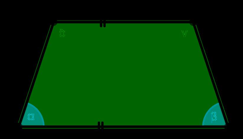 gleich große Winkel im symmetrischen Trapez