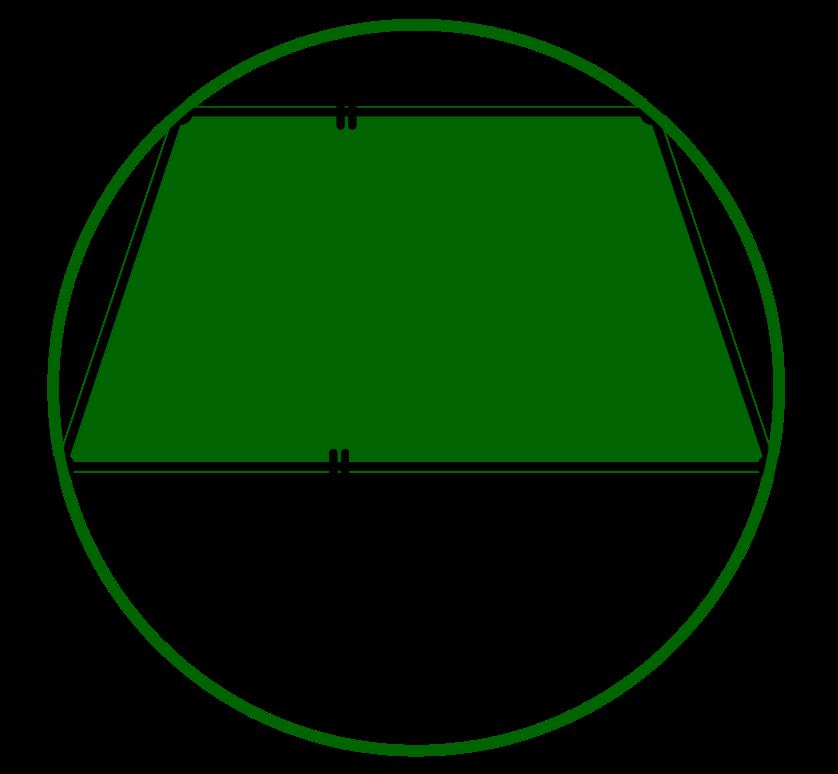 Umkreis eines symmetrischen Trapezes
