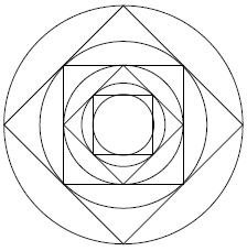 Quadrat im Kreis Radius Verhältnis