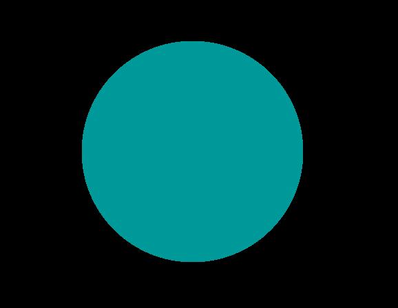 Kreis einfarbig gefärbt